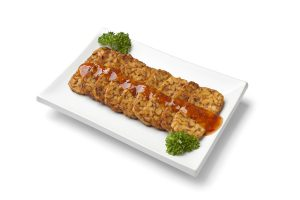 Tempeh with sauce